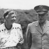First Lady Eleanor Roosevelt and General Dwight Eisenhower.