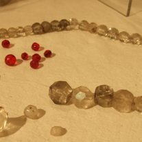 Necklace recovered during 1977 archeological dig at the Sam Rayburn House