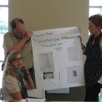 Museum employees at a professional development workshop hosted by the THC