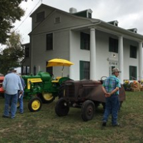 Tractors on display during Farming Heritage Day at the Sam Rayburn House State Historic Site