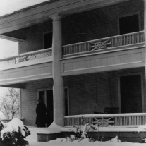 Sam Rayburn House circa 1916 snowstorm