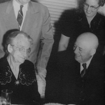 Sam Rayburn celebrates his birthday with friends and coconut cake. Photo courtesy of the Sam Rayburn Museum, Dolph Briscoe Center for American History, the University of Texas at Austin.