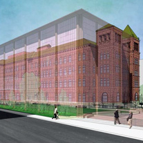 Architectural illustration of Bexar County Courthouse.