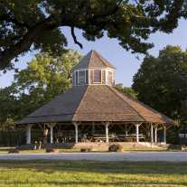The 1893 dance pavilion at Confederate Reunion Grounds State Historic Site.