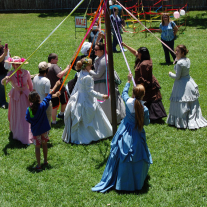 Around the Maypole at Fulton Mansion's Mayfest.