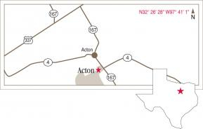 Map to Acton's location