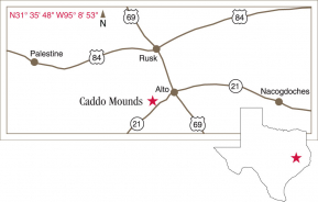 Driving map of Caddo Mounds.