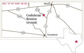 Driving map to Confederate Reunion Grounds.
