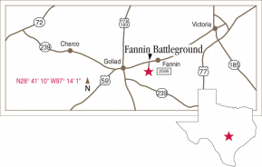 Driving map of Fannin Battleground.