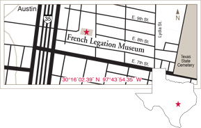 Driving map of the French Legation building