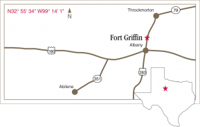 Driving map to Fort Griffin.
