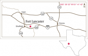 Driving map to Ft. Lancaster.
