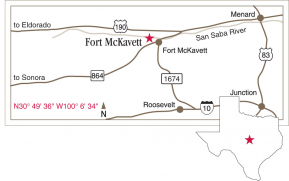 Driving map to Fort McKavett.
