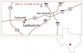 Driving map to Landmark Inn.