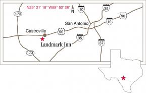 Driving map to Landmark Inn.