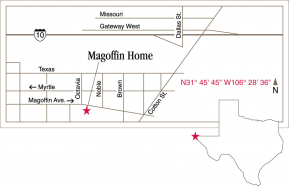 Driving map to Magoffin Home.