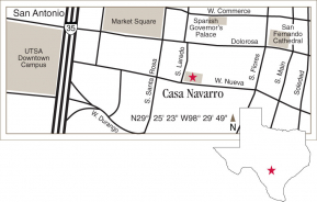 Driving map of Casa Navarro.