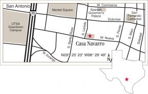 Driving map of Casa Navarro.