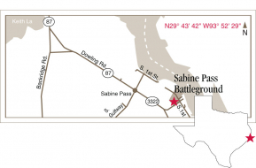 Sabine Pass Map Graphic