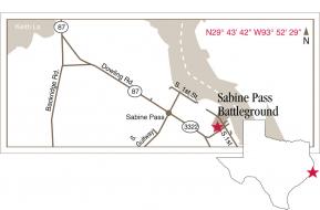 Sabine Pass Map Graphic