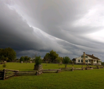 Storm front over Jones home