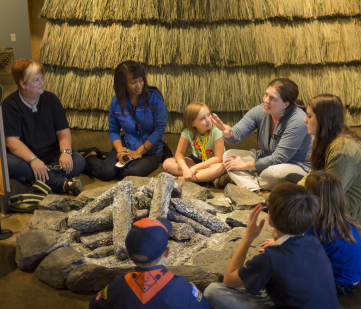 Storytelling at Caddo Mounds.