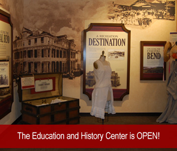 The Education and History Center at the Fulton Mansion State Historic Site is still open!