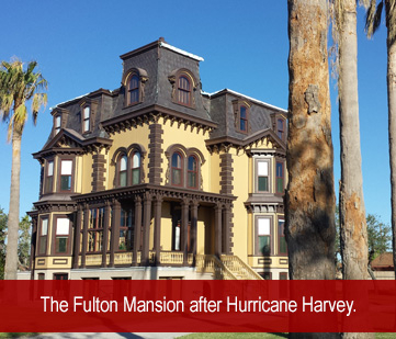 The Fulton Mansion after Hurricane Harvey
