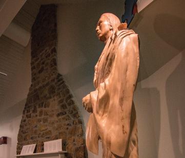 Mission Dolores-Statue in museium