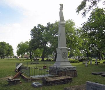The grave site of Elizabeth Crockett.