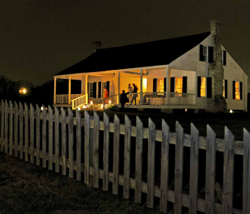 Historic house light by candlelight