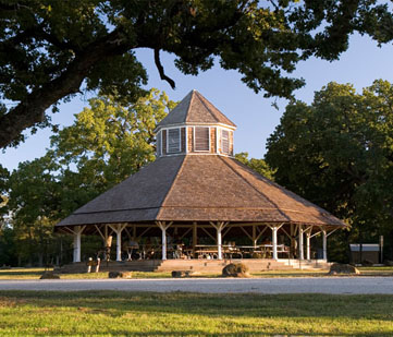 The historic pavilion.