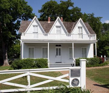The white, two-story home where Eisenhower was born.