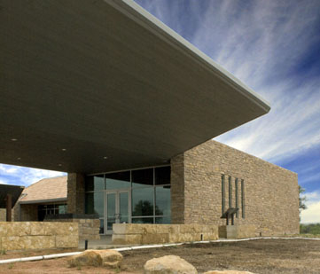 The visitors center.