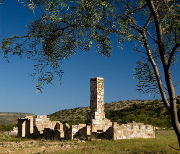 The fort ruins.