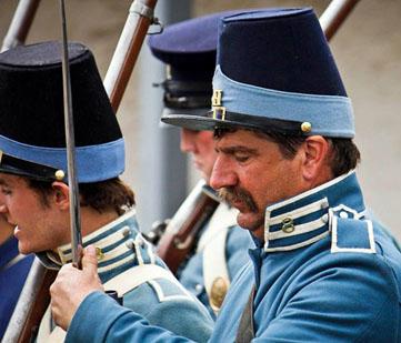 Soldier reenactors.
