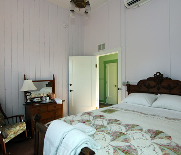 A historic room in the bed-and-breakfast.