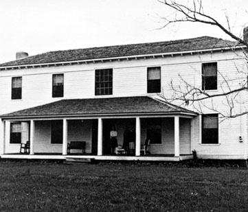 Historic image of the plantation house.