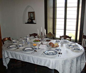 Dining table exhibit.