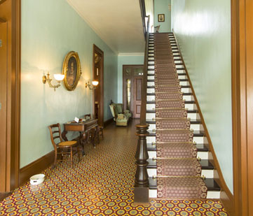 Interior hallway and staircase.